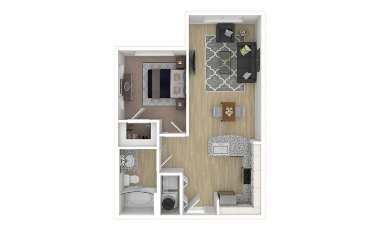 584 sq. ft. A1.3 floor plan