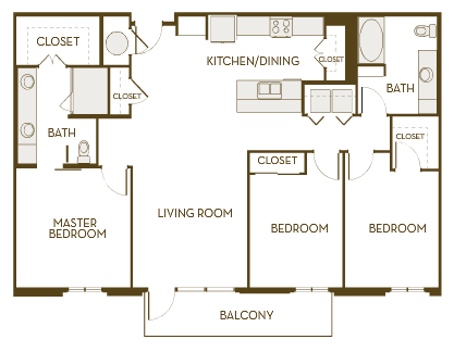 1,450 sq. ft. C2A floor plan