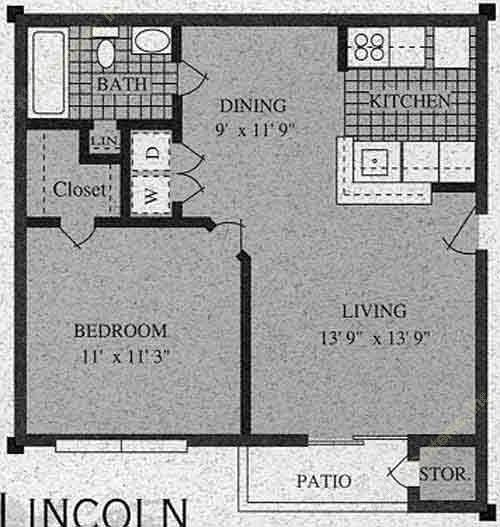 556 sq. ft. B-60% floor plan