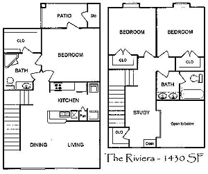 1,379 sq. ft. Riviera floor plan