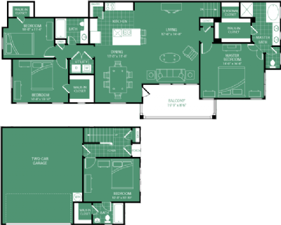 1,910 sq. ft. Winged Foot floor plan
