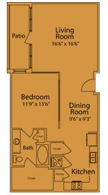 948 sq. ft. JA/B floor plan