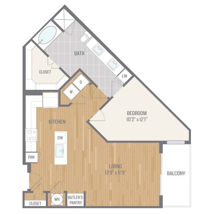 875 sq. ft. A10.2 floor plan