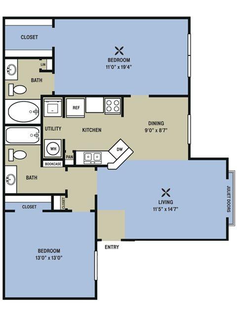 1,063 sq. ft. Phar Lap floor plan