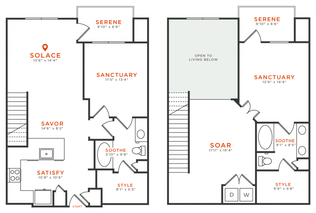 1,425 sq. ft. TH1 floor plan