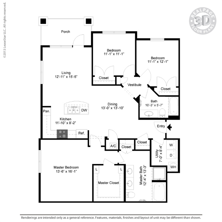 1,518 sq. ft. C3 floor plan