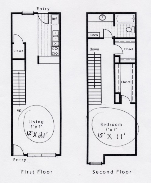 868 sq. ft. A9S floor plan