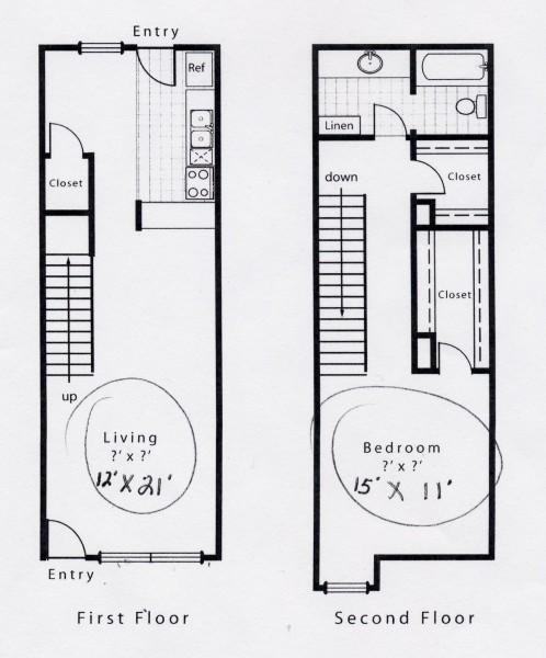 868 sq. ft. A9S floor plan