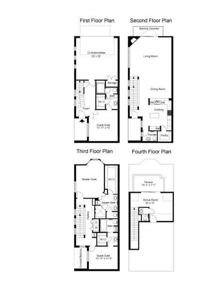 2,936 sq. ft. Waterchase floor plan