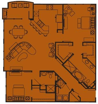 1,426 sq. ft. I floor plan
