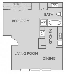 468 sq. ft. A floor plan