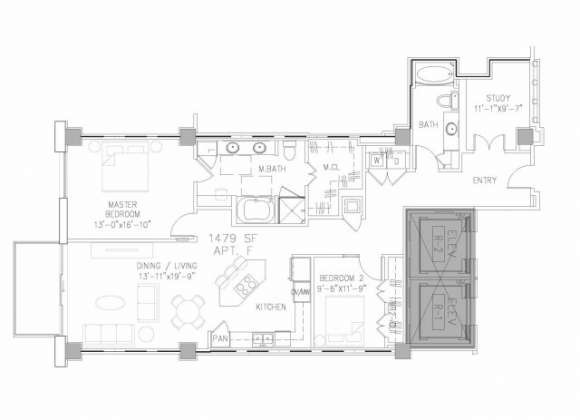 1,479 sq. ft. B8 floor plan