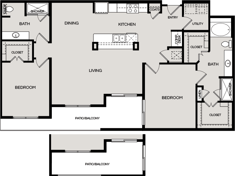 1,486 sq. ft. B5 floor plan