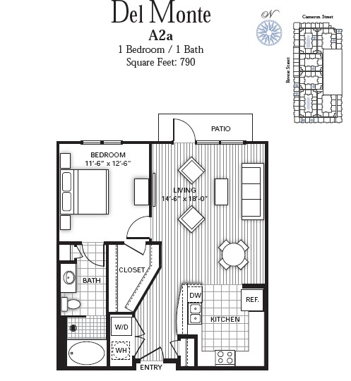 790 sq. ft. DEL MONTE floor plan