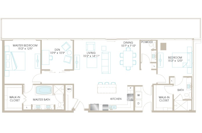 1,680 sq. ft. C10DP floor plan
