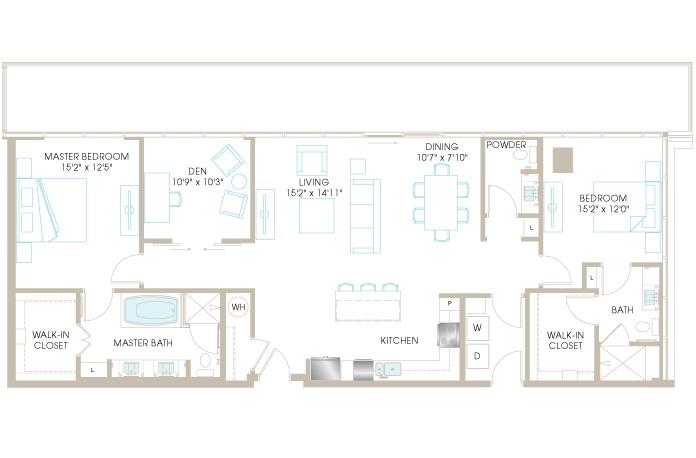 1,680 sq. ft. C10DP floor plan