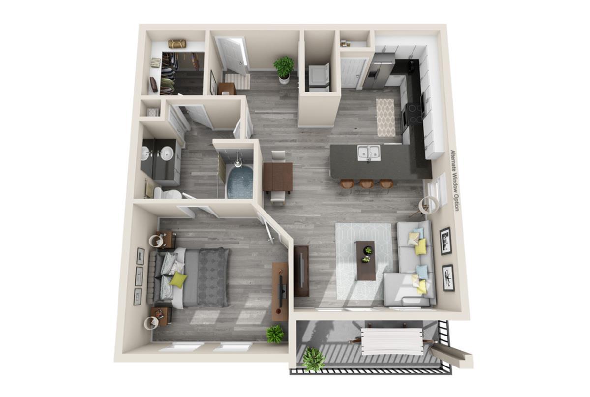 771 sq. ft. Paris floor plan