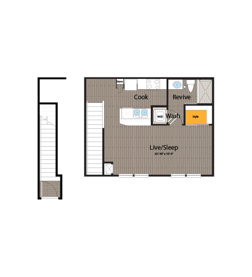 528 sq. ft. floor plan