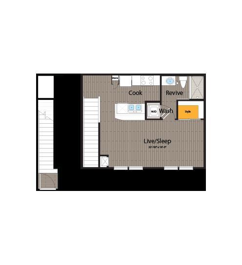 528 sq. ft. floor plan