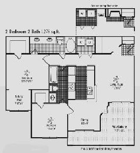 1,278 sq. ft. I floor plan
