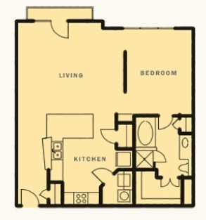 953 sq. ft. Galatyn floor plan