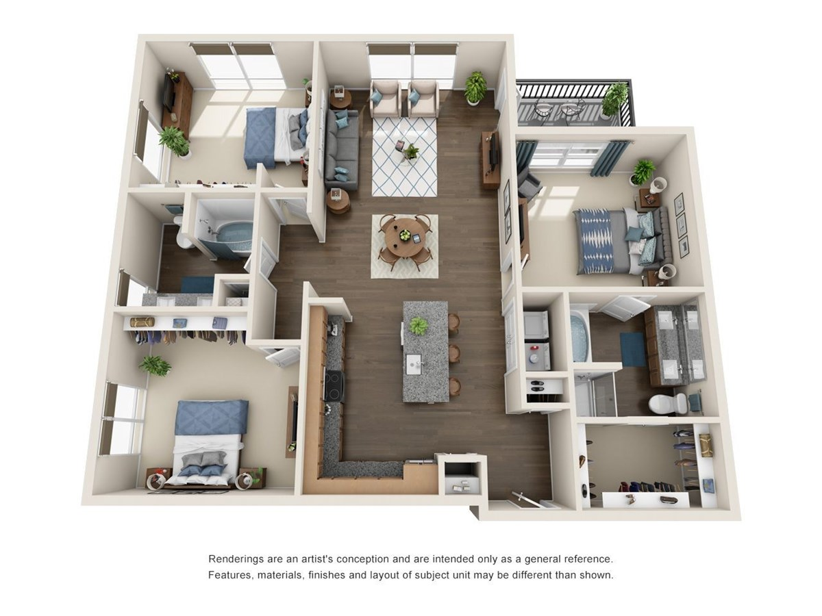 1,492 sq. ft. C1.1 floor plan