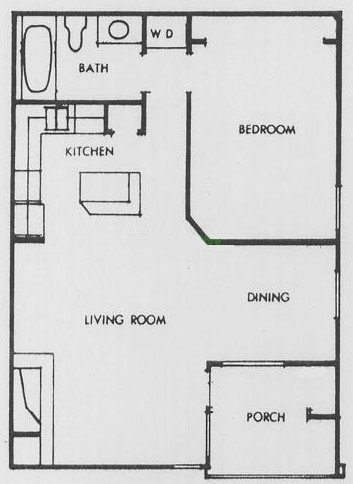 728 sq. ft. I floor plan