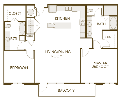 1,363 sq. ft. B2L floor plan