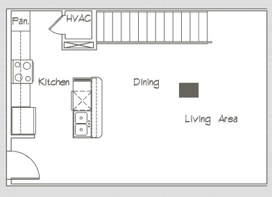 1,041 sq. ft. P10 floor plan