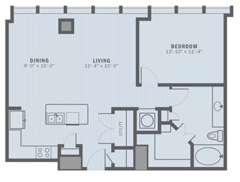 935 sq. ft. A4 floor plan