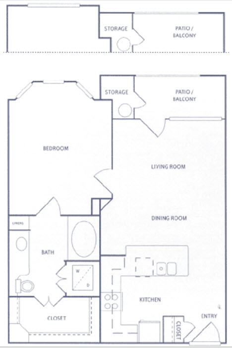 708 sq. ft. to 759 sq. ft. A1 floor plan