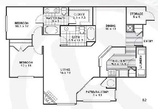 1,176 sq. ft. B2/Arlington floor plan