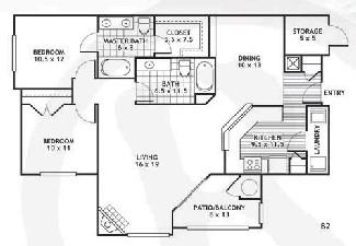 1,176 sq. ft. B2/ARLINGTON floor plan