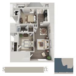 875 sq. ft. Sapphire floor plan