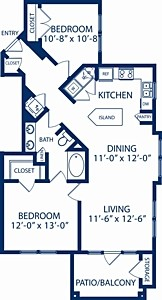 978 sq. ft. Magnolia floor plan