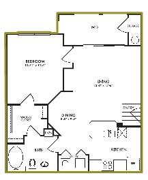 704 sq. ft. Magnolia floor plan