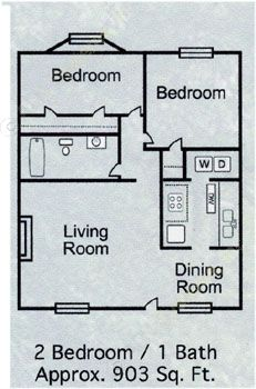 903 sq. ft. B-3 floor plan