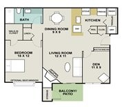 844 sq. ft. Appaloosa floor plan