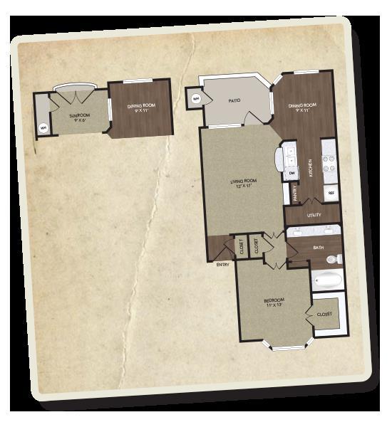 794 sq. ft. Henderson floor plan