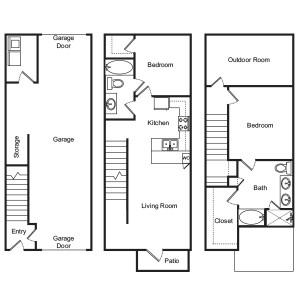 1,538 sq. ft. Primrose floor plan