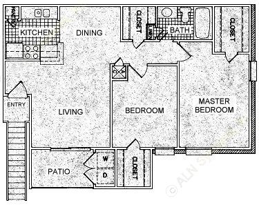 875 sq. ft. G floor plan