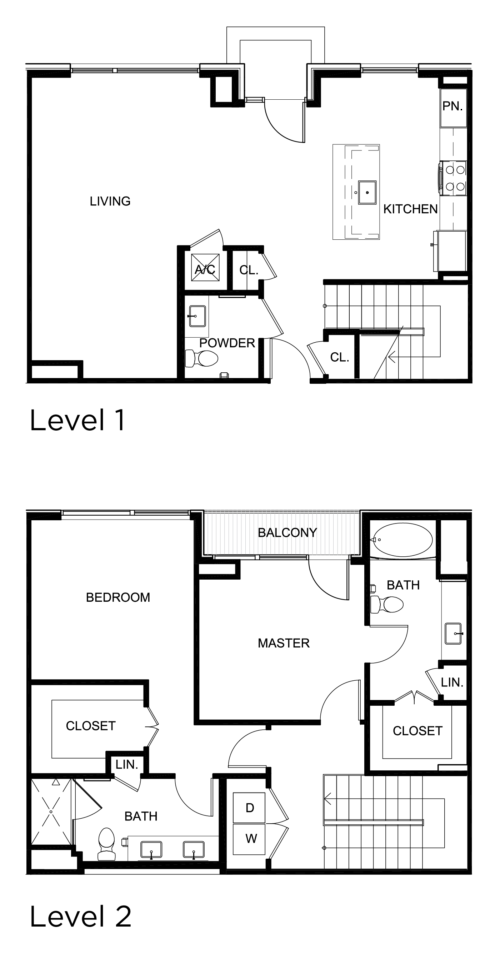 1,591 sq. ft. C2 floor plan