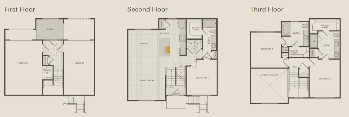 1,753 sq. ft. D2 floor plan