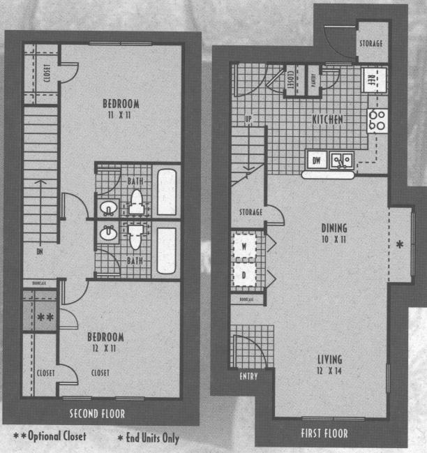 950 sq. ft. 60% floor plan