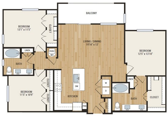 1,464 sq. ft. McCullouch floor plan
