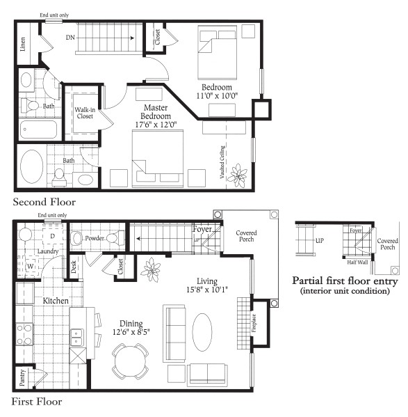 1,085 sq. ft. B3 - CARPORT floor plan