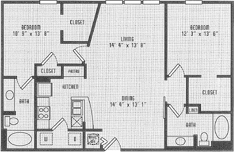 1,135 sq. ft. B5.0.2 floor plan