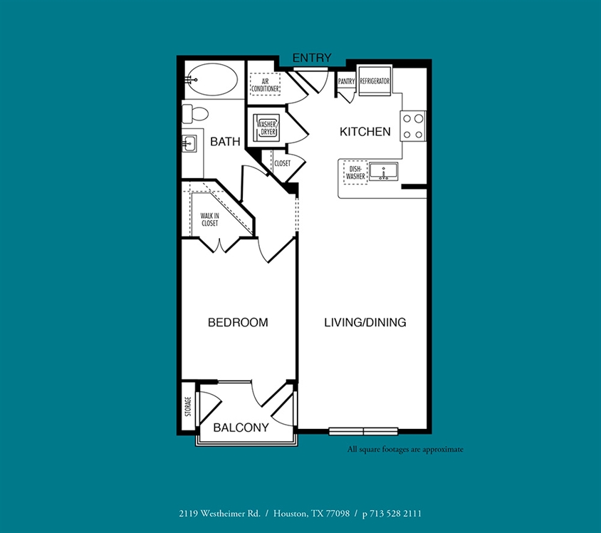 679 sq. ft. A2 floor plan