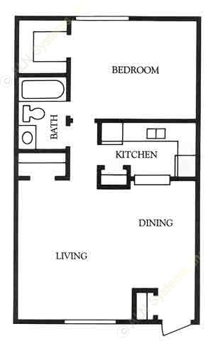 710 sq. ft. Abilene floor plan