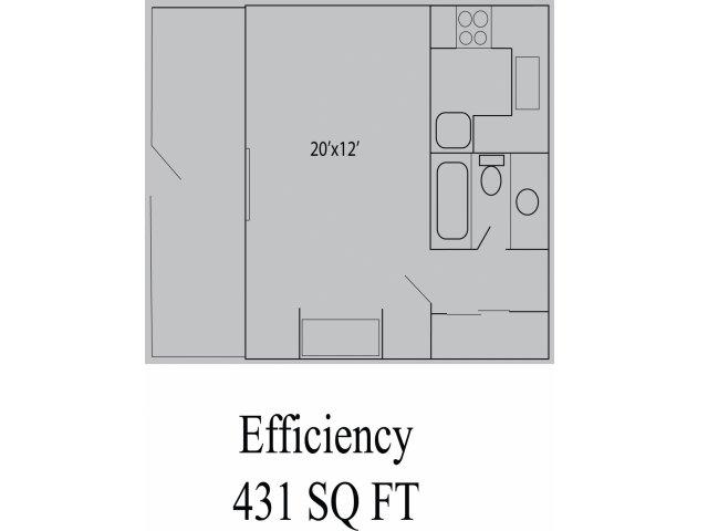 431 sq. ft. floor plan
